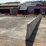 Foto da conclusão de obra de ponte mista de aço e concreto da empresa Ecopontes na cidade de Lins, Interior do Estado de São Paulo.
